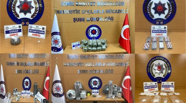 60 Şüpheliden 20'si tutuklandı:'İzmir polisinden ard arda uyuşturucu operasyonu'