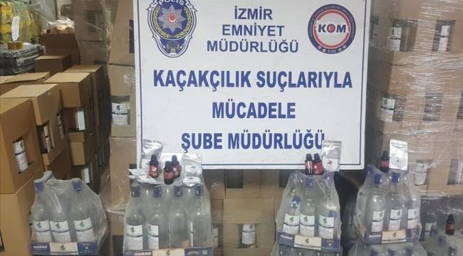 19 ŞÜPHELİ GÖZALTINDA:'İZMİR POLİSİNDEN 11 ADRESE KAÇAK İÇKİ OPERASYONU'